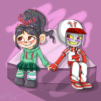 Vanellope x Sugar Rush Turbo by Artizluv
