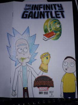 Rick and Morty Infinity Gauntlet sketch cover by DoctorFantastic