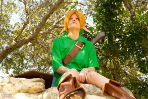Ocarina of Time Young Link Relaxing by TheSoulCollectors