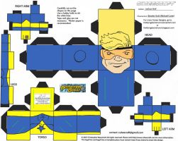 DC SH 1: Booster Gold Cubee by TheFlyingDachshund