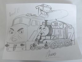 Thomas and Diesel 10 by latios-and-latias