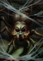 Acromantula by DragonsTrace