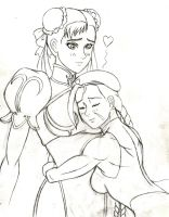 Cammy/Chun Valentines' - Sketch by JB4C
