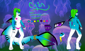 Cyan Reference Sheet 2013 by Kumori-is-here