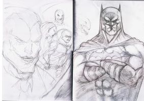 Batman book cover work in progress by dushans