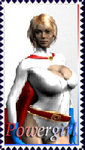 Powergirl Stamp by TrekkieGal