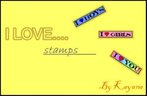 I LOVE/Support stamps by kayana