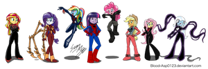 Commission MLP-EG Spiderman Suites by Blood-Asp0123