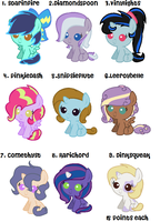MLP Fanfoal Adopts(all sold) by eskimoadopts