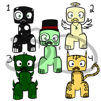Creeper Adopts #2 (CLOSED) by SkyeDragons