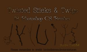 Stick Brushes 18 by KarahRobinson-Art