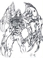Resident_Evil_TYRANT_3 lineart by scabrouspencil