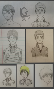 AOT Sketches by LimeDane21