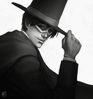 My name is Tuxedo Mask by daPatches