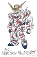 Unicorn Gundam by 73H-FR33M4N