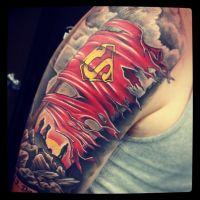 death of superman tattoo by joshing88