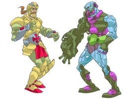 duncan and trapjaw colors by barnabas13