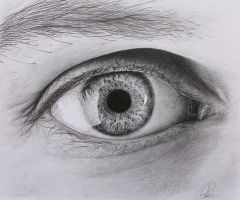 Eye Drawing by ChrisHerreraArt