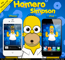 Homero Simpson Walpaper iPhone and iPod Touch by ZeyToX