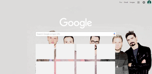 Backstreet Boy Google Chrome Theme by myfremioneheart