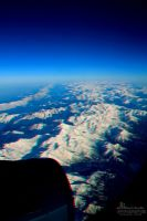 mountains from plane in 3D stereo photo by amirajuli
