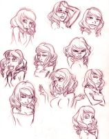 Cosette's Expressions practice by Nobody-alchemist