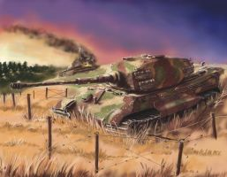 German heavy tank Tiger 2 by Nakamoora