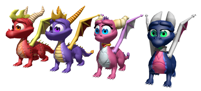 Spyro and Gang - Unmodified Models by FaithSDK