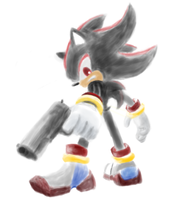Shadow the hedgehog by Akeudi