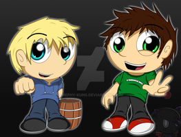 Tobuscus and Pewdiepie by Mephy-kuns