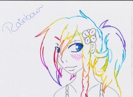 Rainbow headshot by M3004
