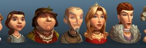 Settlers 7 Portraits by polyphobia3d
