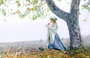 Child portrait the flute by ForeverCreative