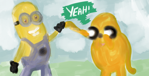 jake and minion by ionona