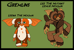 Gremlins - New Mogwais 6 - Leena and Lee by TheCiemgeCorner