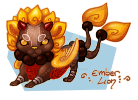 [CLOSED] Embers Lion by LadyMartina