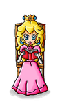 Peach reading a book by ninpeachlover