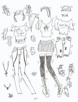 poserdoll clothes punk by electricjesuscorpse