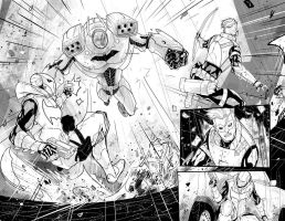 Red Hood / Arsenal n.4 page 2-3 by DenisM79