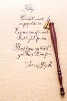 Calligraphy Of LissieBull Poem: Poetry by Fiend-V