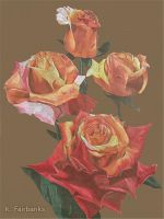 Roses (color pencil drawing) by eyeqandy