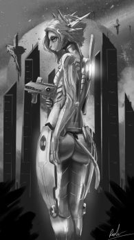 Pray Orbit- Grayscale by Darkbearwalken