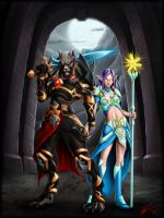 Worgen and Nightelve by EvilFlesh