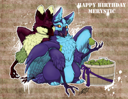 Happy BELATED Birfday Merystic by soulshelter