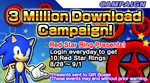 Sonic Runners - 3 Million Download Campaign!! by supersilver1242