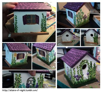 Painting a Bird House Pt 2 by Stars-of-Night