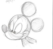 Random Mickey Sketch by DarylT