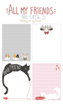 Cat Stationery Set by peahat