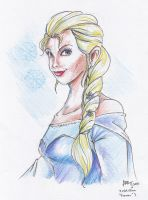 Art Request for Movie-Man#1: Elsa Sketch by Lilinanana86