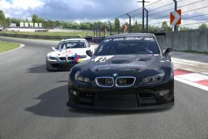 2 BMW M3 Race cars by NightmareRacer85
